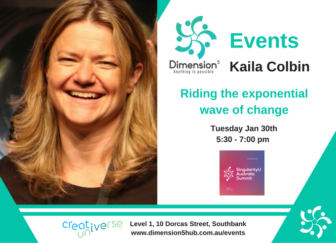 Event Flyers - D5 Jan 30 - Kalia Colbin - Riding the exponential rate of change